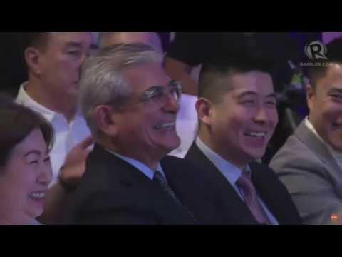 Zobel De Ayala, Sy share a laugh over MRT-LRT common station
