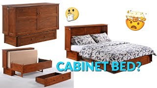 This Cabinet Transforms Into a Queen Bed