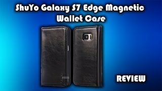 shuyo galaxy s7 edge magnetic wallet case review