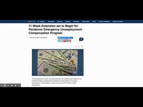Pandemic Emergency Unemployment Compensation 11 Week Extension