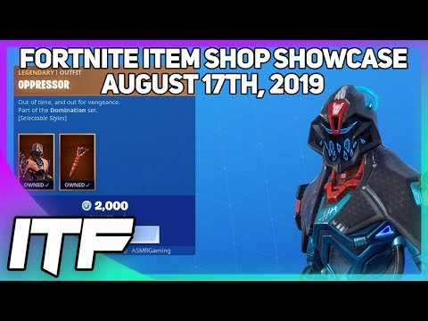 Fortnite Item Shop *NEW* OPPRESSOR SET! [August 17th, 2019] (Fortnite Battle Royale)