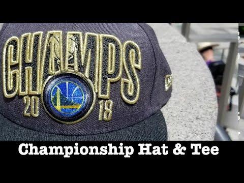 warriors-championship-hat-&-t-shirt-review-+-rare-championship-tee