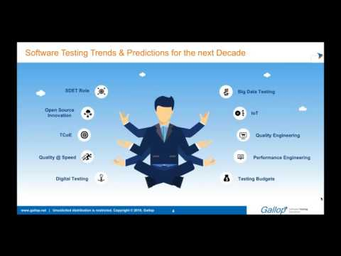 Gallop Webinar on 10 Emerging Trends in Software Testing by Kalyana Rao Konda