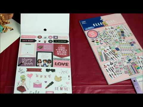 Hobby Lobby Mini Haul Elle Oh Elle Stickers, Washi Tape