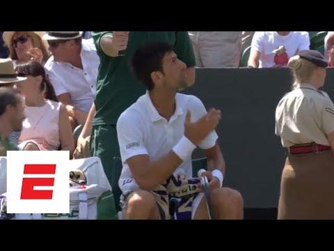 Wimbledon 2018 Highlights: Djokovic receives warning, defeats Nishikori to advance | ESPN