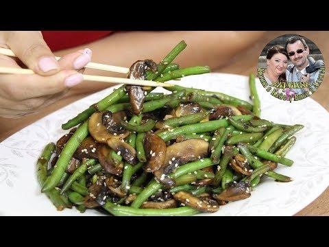 Азиатский салат из грибов и стручковой фасоли. Супер быстрый и очень вкусный. От кухня в Кайф.