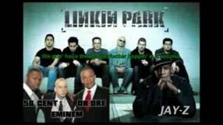 NumbEncore Remix ft Eminem, Dr Dre, 50 Cent, LP, Jay Z Lyrics sync