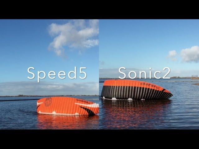 Review Flysurfer Sonic2 vs Speed5. Part 2. Wind range & relaunch.