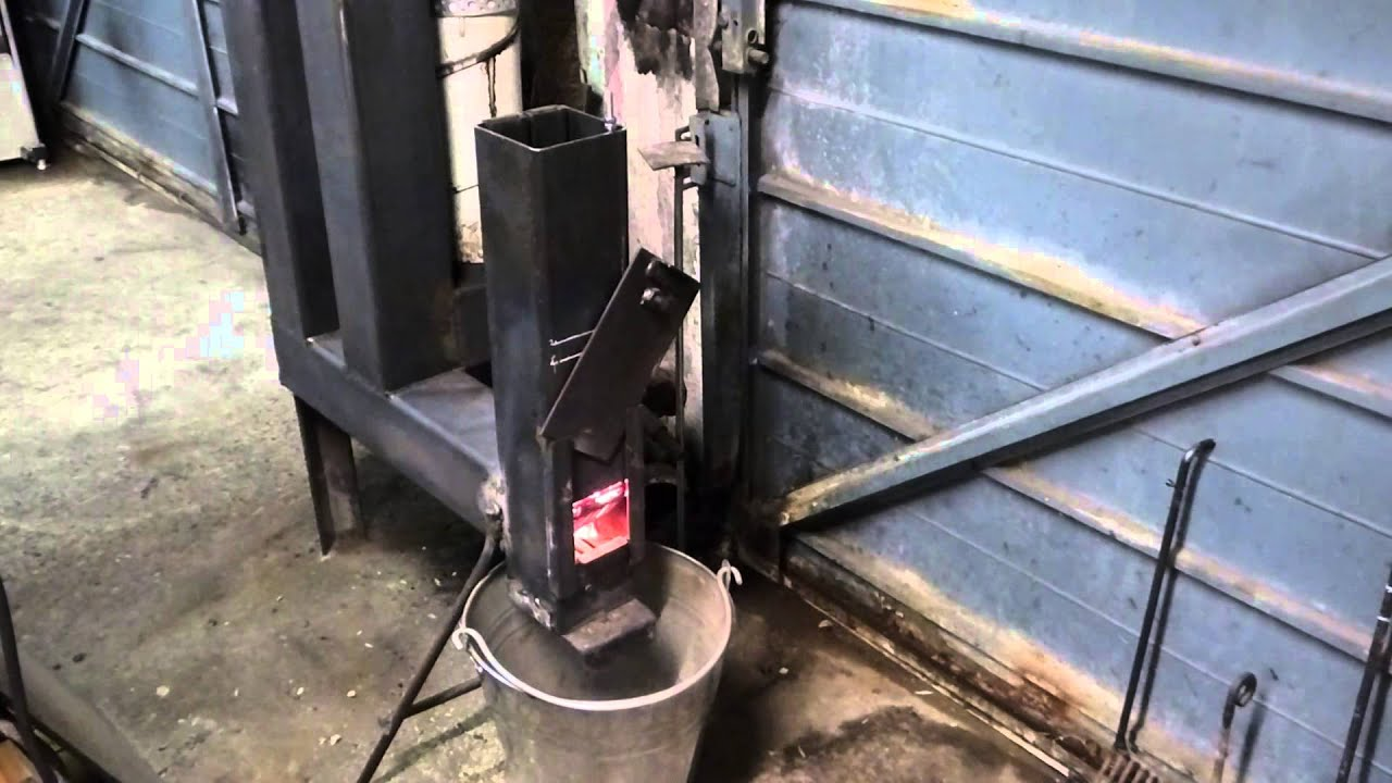 Diy rocket stove wood pellet space heater mk3 youtube for Homemade rocket stove plans