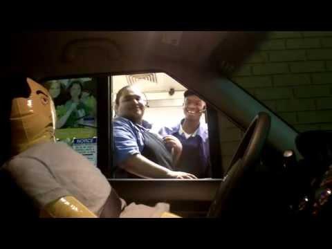 BLOW UP DOLL DRIVE THRU PRANK