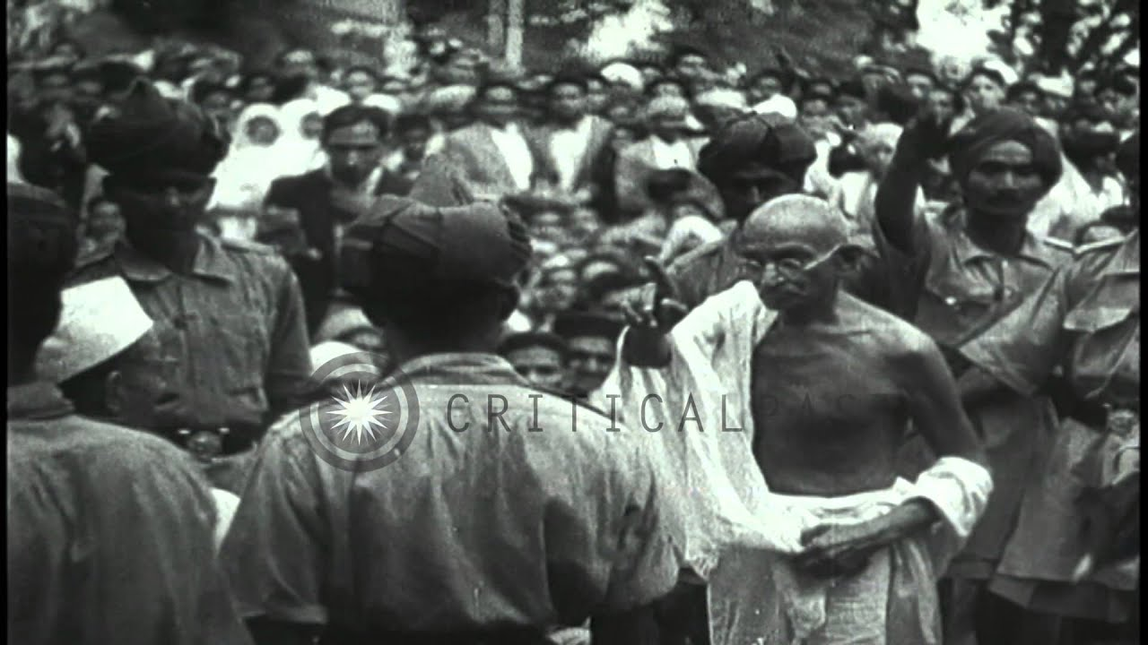 ... parliament members and Mohandas Karamchand...HD Stock Footage