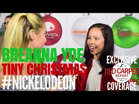 "Breanna Yde interviewed at Nickelodeon's ""Tiny Christmas"" Screening Event"