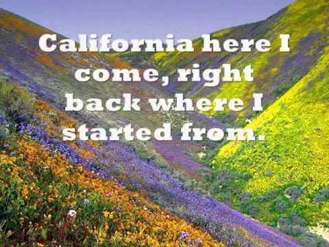 California Here I Come Lyrics