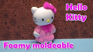 Como hacer a Hello Kitty en foamy moldeable