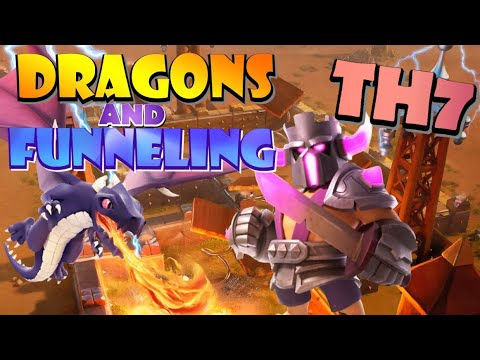 How To Use TH7 Dragon Attack Strategy - FUNNELING - The Most IMPORTANT Skill You Will EVER Learn!