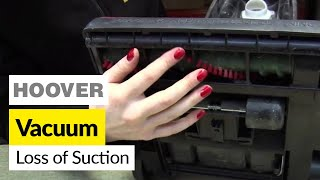 how to fix loss of suction in a hoover upright vacuum cleaner