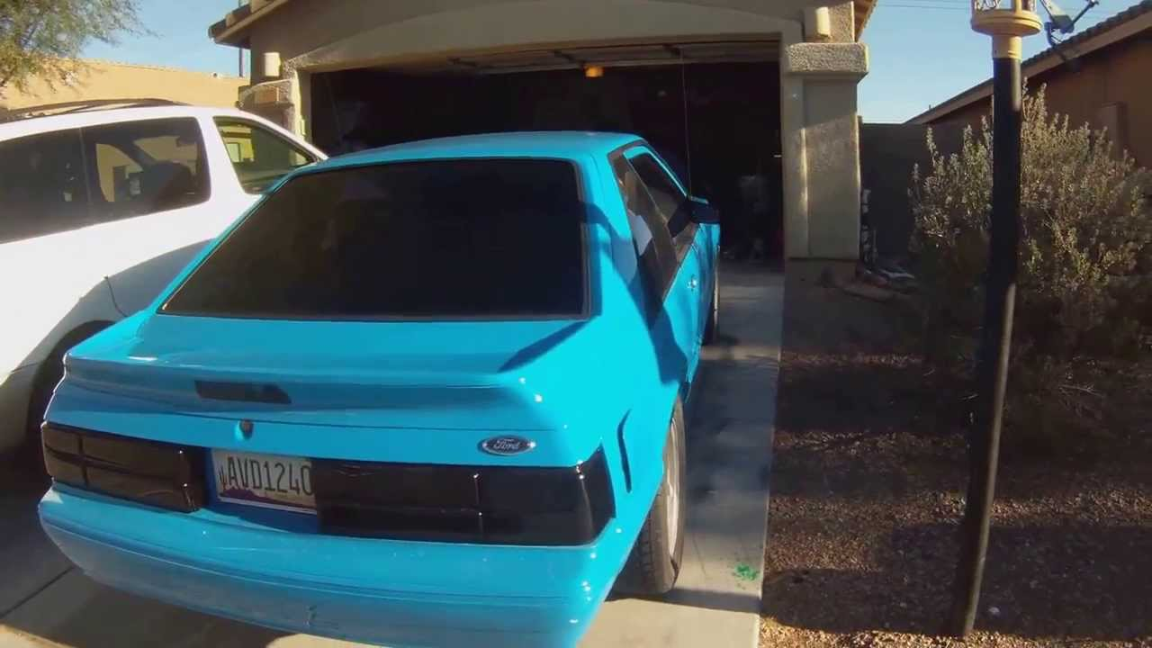 Mustang Gt Premium >> Grabber Blue 1989 Ford Mustang LX Foxbody Hatch - YouTube