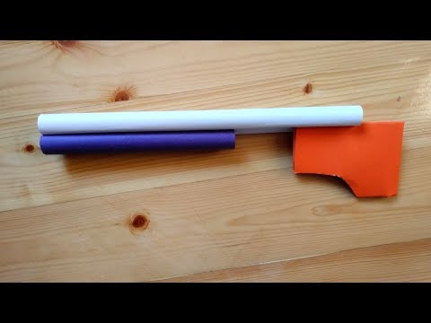How to make a paper weapon easy for kids | Origami weapons that does not shoot and hurt