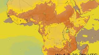 Central Africa Surface Temperature Weather Forecast HD: 18 Nov 2019 [Updated at 0000 hours UTC]