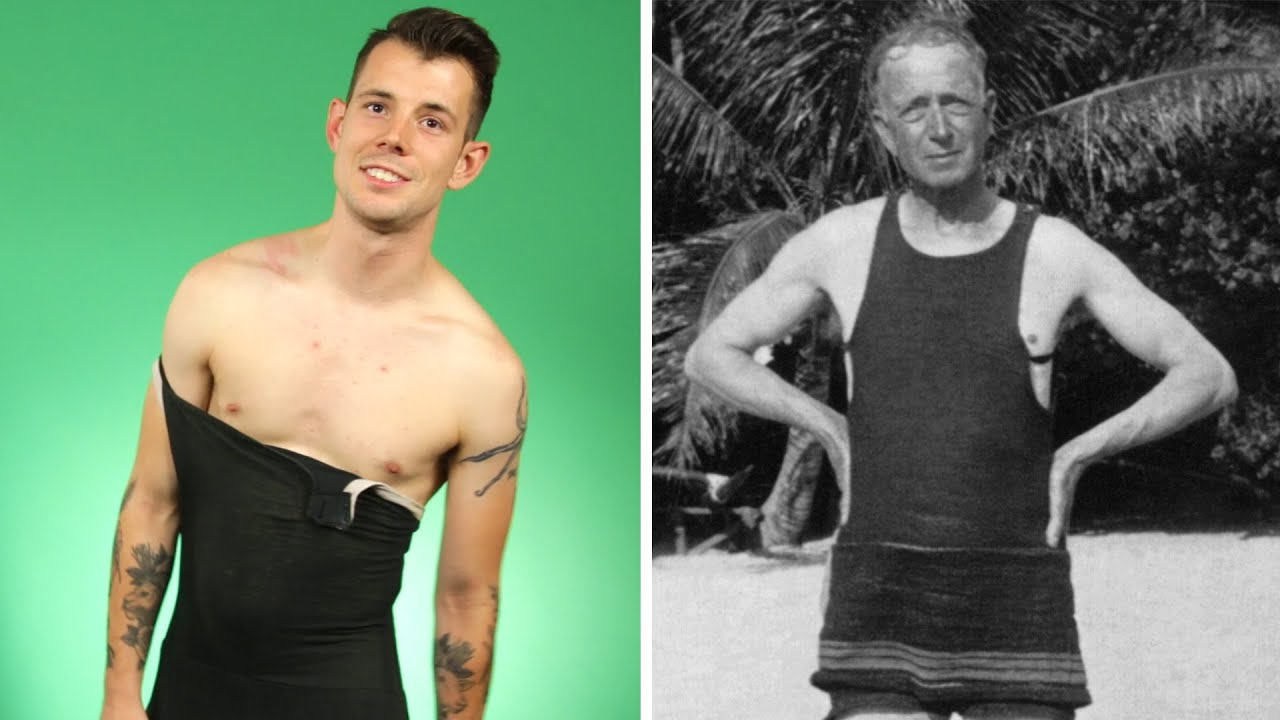 Guys Try Vintage Swimsuits - YouTube