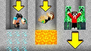 MINECRAFT But We ONLY Dig Straight DOWN!