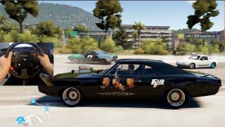 FH2 GoPro Doms 1970 Dodge Charger 900hp Drift Build Online #furious7 | SLAPTrain