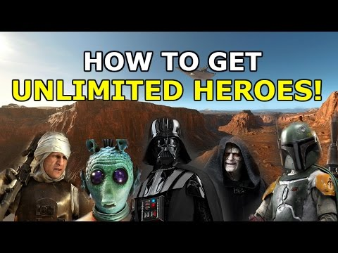 HOW TO GET UNLIMITED HEROES! - Star Wars Battlefront