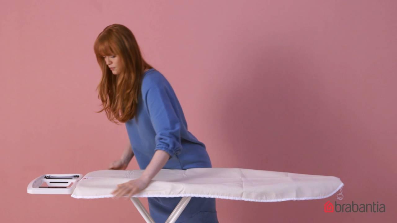 zo vervang je de overtrek brabantia strijkplank youtube. Black Bedroom Furniture Sets. Home Design Ideas