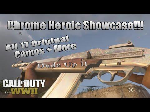 (New) Dude Up II - CHROME Heroic Showcase!!! (BAR) Call Of Duty: WWII