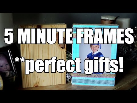 How to make a Picture Frame with Wood and Duck Tape