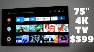 """Philips 75"""" Smart 4K Android TV 75PFL5704/F7 
