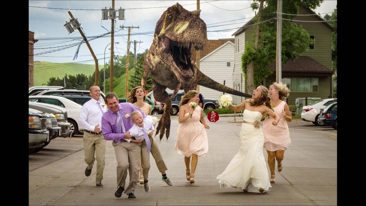Image result for images of dinosaur chasing people