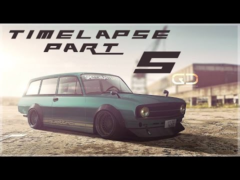 Digital Car Tuning Timelapse By Glacius | Audi F103 | PART 5