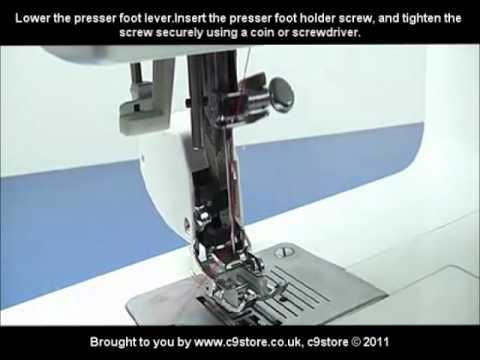 C40store Even Feed Walking Foot Presser Foot How To Video YouTube Delectable Sewing Machine Presser Foot Lever
