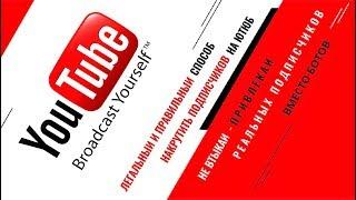 ЛЕГАЛЬНЫЙ СПОСОБ накрутить Реальных подписчиков на свой Ютуб канал ЛП