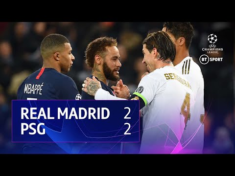 Real Madrid vs PSG (2-2) | UEFA Champions League Highlights