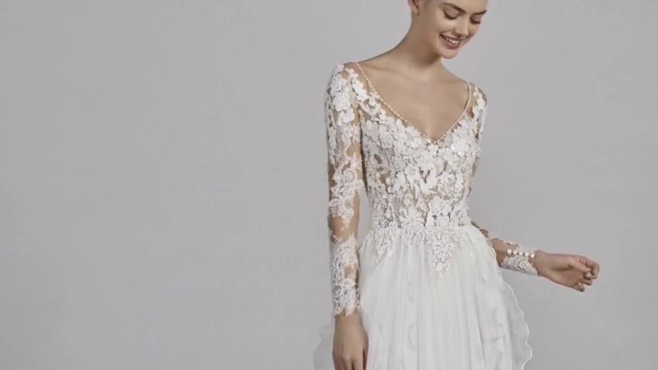 Pronovias Chicago Wedding Dress Long Sleeve Price 2019