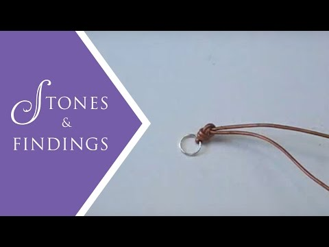 Jewelry Making Techniques - How to Make a Leather Knot End