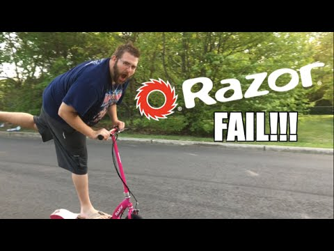 Fat Man Crashes Razor Scooter Into Garbage Can Youtube
