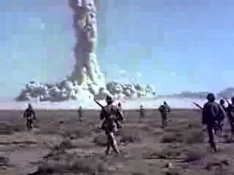 Desert Rock Nuclear Tests 1951-1957 US Army Soldiers Observe Atomic Bomb Blasts