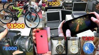 chor bazar | black market | old market used item,iphone,tablet, camera,dslr,appliances,urban hill