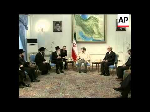 Ahmadinejad meets anti-Zionist Jews
