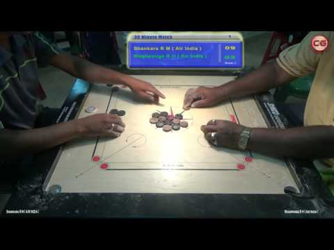Semi Final Shankara R M Vs Waghpange R H  Corporate Carrom Tour 2017 Goa By Victory Events
