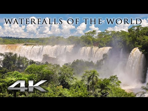 WORLD'S WATERFALLS in 4K (no music) 1 HR Nature Relaxation™ Signature Film in UHD