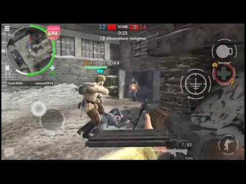 en direct world war heroes objective terminer premier a chaque partie  sur smartphones