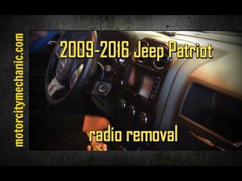 20092016 Jeep Patriot radio removal  YouTube