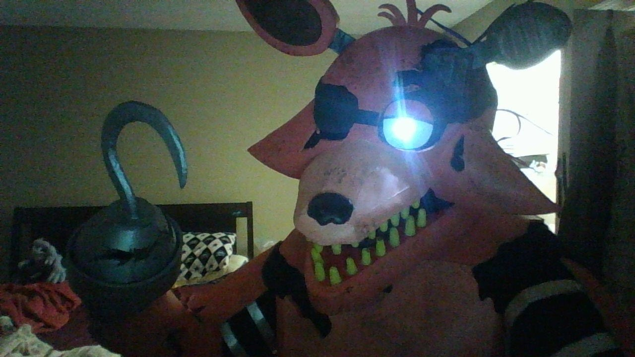 Old Fnaf Withered Foxy Costume Youtube