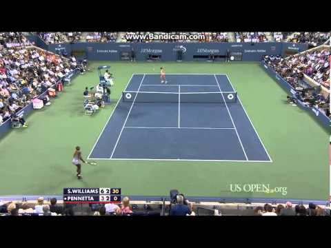 Serena Williams vs Flavia Pennetta US Open 2014 QF Highlights (HD)