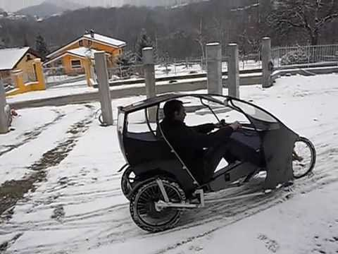 Electric Assisted Street Legal Two Seater Cabin Bicycle