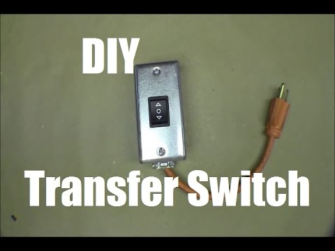 RicksDIY Building Simple Easy Generator Transfer Switch For    Gas       Furnace    Part1  YouTube